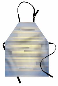 Gri Mavi Şerit Desenli Mutfak Önlüğü Modern