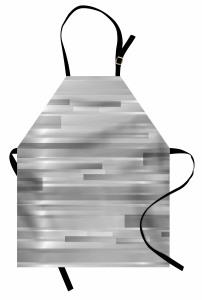Gümüş Şerit Desenli Mutfak Önlüğü Dekoratif Şık