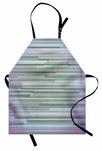 Mavi Mor Çizgili Desenli Mutfak Önlüğü Modern