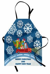Kar ve Noel Kamyoneti Mutfak Önlüğü Hediye