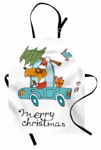 Mutlu Noeller Temalı Mutfak Önlüğü Çocuk İçin Köpek