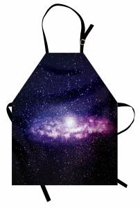Uzay ve Yıldızlar Mutfak Önlüğü Mor Siyah Şık