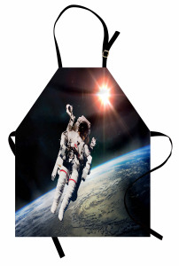 Dünya ve Astronot Mutfak Önlüğü Uzay Trend