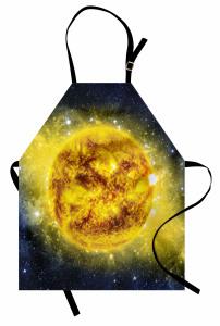 Sarı Gezegen Temalı Mutfak Önlüğü Uzay Galaksi Evren
