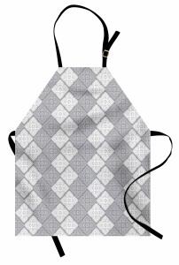 Duvar Kağıdı Temalı Mutfak Önlüğü Gri Şık Tasarım