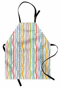 Rengarenk Çizgili Mutfak Önlüğü Dekoratif Şık