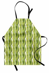 Yeşil Şeritli Mutfak Önlüğü Şık Tasarım Dekoratif