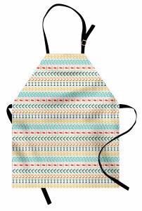 Çizgili Desenli Mutfak Önlüğü Etnik Temalı Mavi Şık