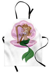 Arp Çalan Deniz Kızı Mutfak Önlüğü Mor Yeşil