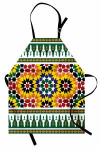 Rengarenk Geometrik Mutfak Önlüğü Çeyizlik