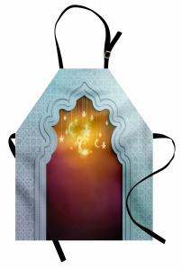 İslam Mimarisi Desenli Mutfak Önlüğü Ay ve Yıldızlı