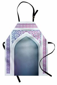 İslam Etkili Kapı Mutfak Önlüğü Şık Dekoratif