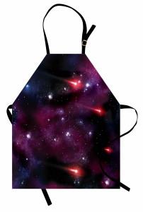 Mor ve Lacivert Uzay Mutfak Önlüğü Şık Tasarım