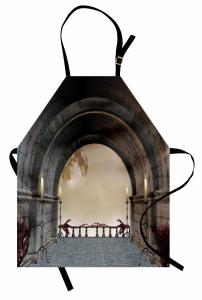 Kemerli Taş Balkon Mutfak Önlüğü Mumlu