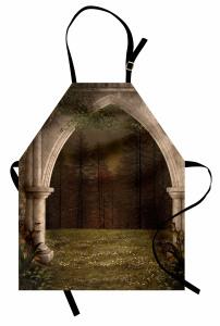 Sütunlu Kemer ve Orman Mutfak Önlüğü Dekoratif