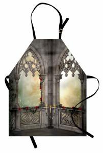 Mermer Şato Pencereleri Mutfak Önlüğü Antik