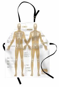 İnsan İskeleti Desenli Mutfak Önlüğü Kemikler