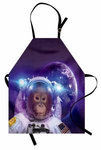 Astronot Maymun ve Dünya Mutfak Önlüğü Uzay Çağı