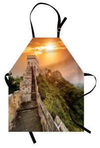 Güneşli Çin Seddi Mutfak Önlüğü Antik