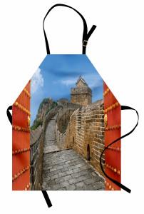 Çin Seddine Açılan Kapı Mutfak Önlüğü Dekoratif