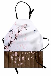 Pembe Kiraz Çiçekleri Mutfak Önlüğü Şık Tasarım