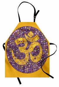 Dekor Mozaik Mandala Mutfak Önlüğü Mor