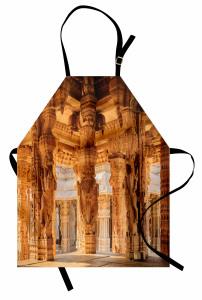 Antik Figürlü Sütunlar Mutfak Önlüğü Dekoratif