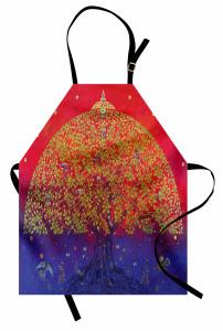 Mistik Ağaç ve Kuşlar Mutfak Önlüğü Sanatsal