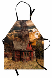 Ahşap Köy Evi Mutfak Önlüğü Country Tarzı