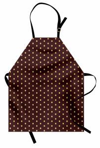 Kahverengi Puantiyeli Mutfak Önlüğü Şık Tasarım