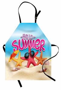 Denizyıldızı ve Kabuk Mutfak Önlüğü Merhaba Yaz