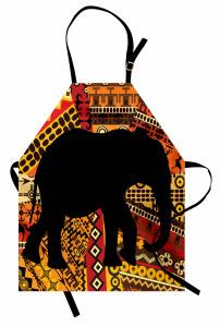 Etnik Süslemeli Fil Mutfak Önlüğü Dekoratif