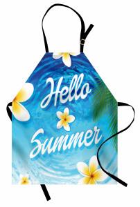 Yaz Coşkusu Desenli Mutfak Önlüğü Palmiye Deniz Çiçek