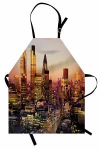 Londra'da Gün Batımı Mutfak Önlüğü Gökdelen Manzarası