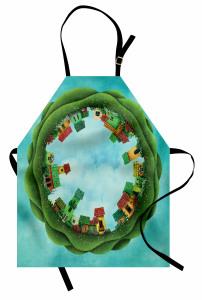 Masal Evleri Desenli Mutfak Önlüğü Fantezi Orman