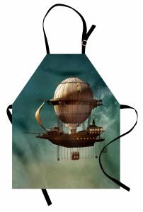 Fantastik Uçak Gemisi Mutfak Önlüğü Steampunk Stili