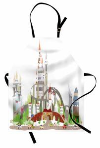 Şehrin Karmaşası Temalı Mutfak Önlüğü Şık Tasarım Trend