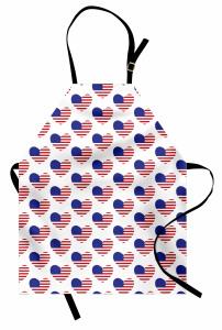 Kalpli ABD Bayrakları Mutfak Önlüğü Dekoratif