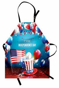 ABD'nin Özgürlük Günü Mutfak Önlüğü Dört Temmuz