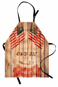 Bulutlar ve ABD Bayrağı Mutfak Önlüğü Dört Temmuz
