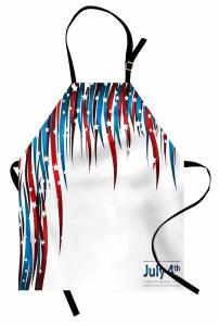 Kalpli Amerikan Bayrağı Mutfak Önlüğü Şık