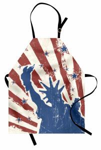 4 Temmuz Özgürlük Günü Mutfak Önlüğü Retro Şık