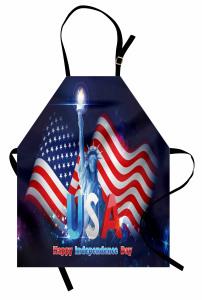 Bayrak Sallayan Köpek Mutfak Önlüğü ABD Bayrağı