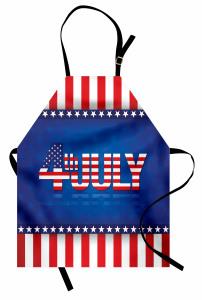 Özgürlük Anıtı Desenli Mutfak Önlüğü Çizgili Yıldızlı Şık