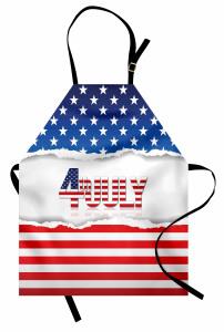Bordo Lacivert Yıldız Mutfak Önlüğü Amerikan