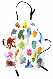 Deniz Hayvanları Mutfak Önlüğü Yunus Ahtapot