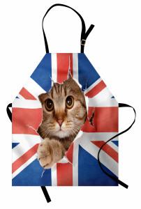 Bayrak ve Kedi Mutfak Önlüğü Birleşik Krallık