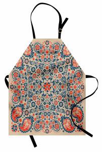 Dekoratif Çiçekli Şal Mutfak Önlüğü Şık Tasarım Trend