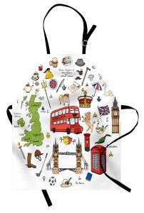 Birleşik Krallık Sembol Mutfak Önlüğü Big Ben Çay