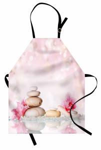 SPA Taşları ve Çiçek Mutfak Önlüğü Pembe Trend Şık